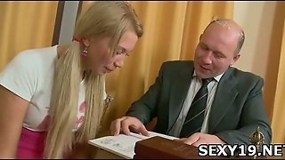 Blonde Teen Drilled Doggy Style