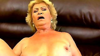 Mature Blonde Granny Effie With Hairy Minge And Big Tits Gets Stiff Pecker Up Her Asshole In Pov