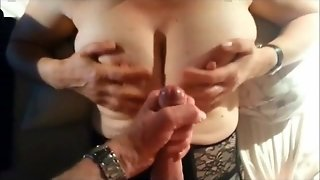 Busty Mature Handjob And Cumshot