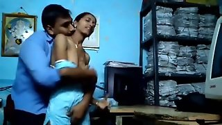 Marathi Office Colleagues Foreplay At Office