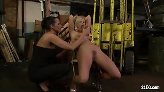 Mature Lesbian Dominatrix And Her Slaves
