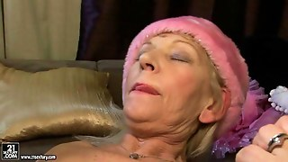 Hairy Granny And Hot Teen Making Lesbian Love