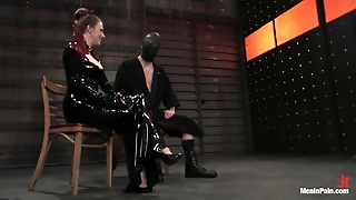 Severe Torture For Full-Face Masked Guy By Dominating Vixen