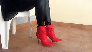 Stockings, Nylon, Red Boots, Leather Boots, Pantyhose, Hd Videos, Boots, High Heels, Leather, Leggins