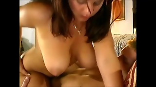 Sexy Big Tits Babysitter Drilled By 2 Guys