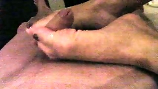 My Wifey Tries To Stroke My Dick With Her Feet But Nothing Happens