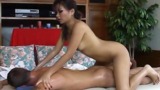 Creamy Massage With A Staggering Asian