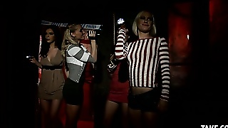 Four Beautiful Girls Explore A Hunted House Just To Be