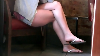 Starbucks Brunette Legs And Feet