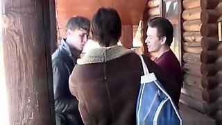 Russian Student Threesome