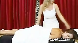 Large Breasted Franchesca Gets The Best Lesbian Erotic Massage Of Her Life.