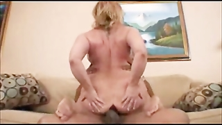 Chubby Blonde Analized With Bbc