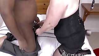 Voluptuous Granny With Big Ass Getting A Chubby Black Guy To Fuck Her With His Thick Massive Dong
