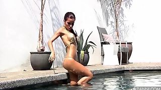 Boobs, Bikini, Latina, Pool, Erotic