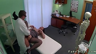 Redhead In Hose Drilled By Doctor In Fake Hospital