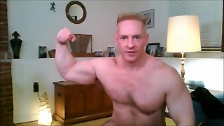 Str8 Blond Muscle Daddy Play