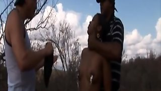 Afro-Slave In Outdoor Fetish Domination