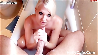 Cara Cum Shower Masturbation Blowjob