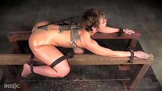 Kinky Bondage And Ass Caning With A Curvy Cutie