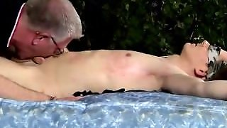 Granny Kissing Young Boy Movie The Master Wants A Cum Load