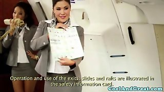 Asian Stewardesses Blow Dudes