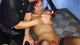Near Her Pussy Pierces The Skin