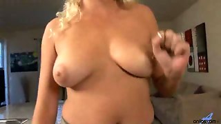 Pussy, Bed, Bed Dildo, On Her Pussy, Dildo In Her Pussy, Pussy And Dildo, Suctioncup, Sucks Mature