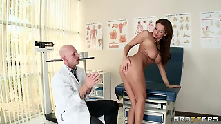 Big Tits, Babe, Brown Haired, Anal Insertion, Undressing, Doctor, Busty, Moaning, Patient, Hd