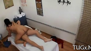 She Is On The Dude And She Massages Him Real Good