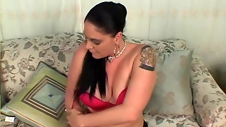 Tube8 Com, Raven, Stripping, Trimmed, Busty, Nylons, Solo, Masturbation, Dildo, Big Tits, Tattoo