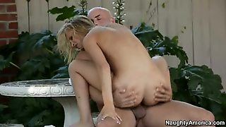 Blonde, Riding, Outdoor, Blowjob, Hardcore, Small Tits