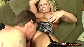 Bigtits Blonde Cougar Fucking With Lover