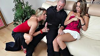 Sexy Threesome With Horny Couple