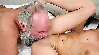 Teen Banged By Old Man