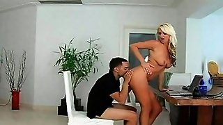 Hot Busty Milf Jumping Horny Cock On A Chair