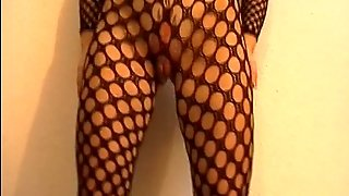 A Little Taste Of A Model In Fishnet And Model Masturbating