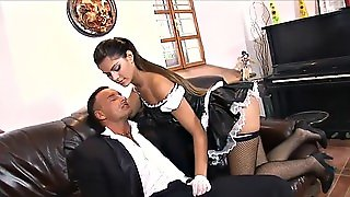 Maid Pleasures A Pussy And A Dick