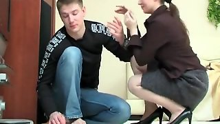 Beautiful Stepmom Seduces A Boy