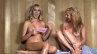 Ainsley Addison And Her Best Friend Are In Sauna Talking About Guys And Sex. The Girls Are Naked And Dream About Hot Nasty Fucking With Horny Black Men With Big Cocks.