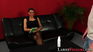 Cfnm Babe Watches Toying