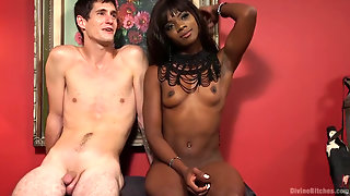 On Your Knees! It's The Debut Of Mistress Ana Foxx!