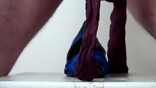 Fuck The Blue High Heels In Nylons