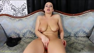 Babe Bites Her Nipples And Fingers Her Hot Cunt