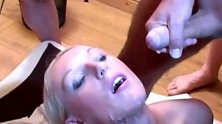 Lovely British Blonde Shows Her Love For Cum
