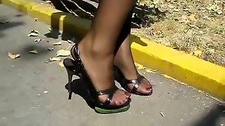 High Heel Nylon Crush