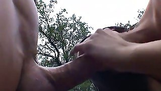 Rough Outdoors Sex With The Horny Brunette Brandy Aniston