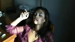 Vanessa Inhales Smoke And Hot Cum