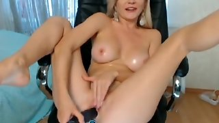 Sexy Blonde Chick Masturbation