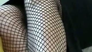 Public Up Skirt Pussy With Babe In Fishnet Stockings