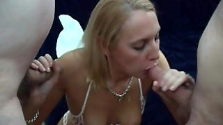 Ladies Who Suck Two Cocks Together Compilation